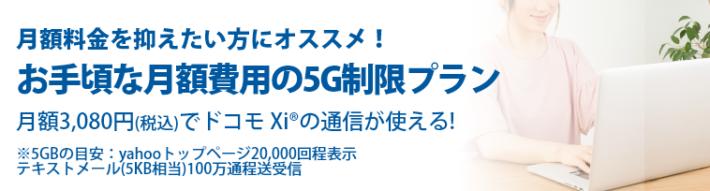 C mobile 5GB制限プラン
